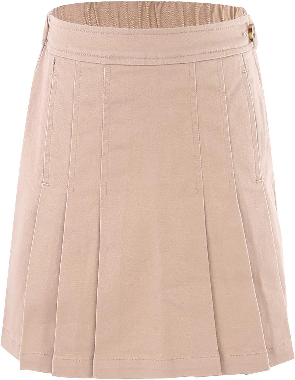 Bienzoe Girl's Cotton Stretchy Uniforms Pleated Skirt School Long Overseas parallel import regular item Beach Mall
