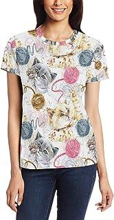 XiangHeFu T Shirt voor vrouwen meisjes schattig leuke tijd aangepaste korte mouw