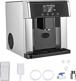 S SMAUTOP Machine à Glaçons avec Distributeur d'Eau Froide, 9 Glaçons Par 8 Min 15KG / 24H Auto Stop Écran LCD Machine de ...