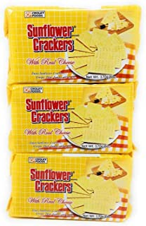Croley Foods Sunflower Crackers With Real Cheese, 170g (6oz), 3 Pack