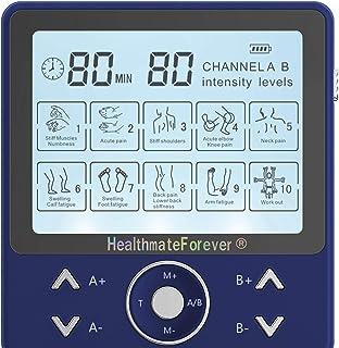 HealthmateForever Mejores 10 modos impulso electroterapia Digital Personal del cuerpo masajeador eléctrico de mano naranja azul
