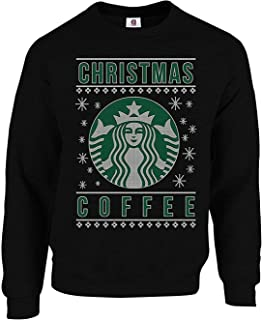 Graphic Impact Funny Star Coffee Bucks Lovers Christmas Coffee, Coffee Lovers Caffeine Christmas Ugly Jumper Sweater