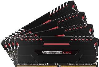 CORSAIR VENGEANCE LED 32GB (4x8GB) DDR4 3000MHz C15 Desktop Memory - Red LED