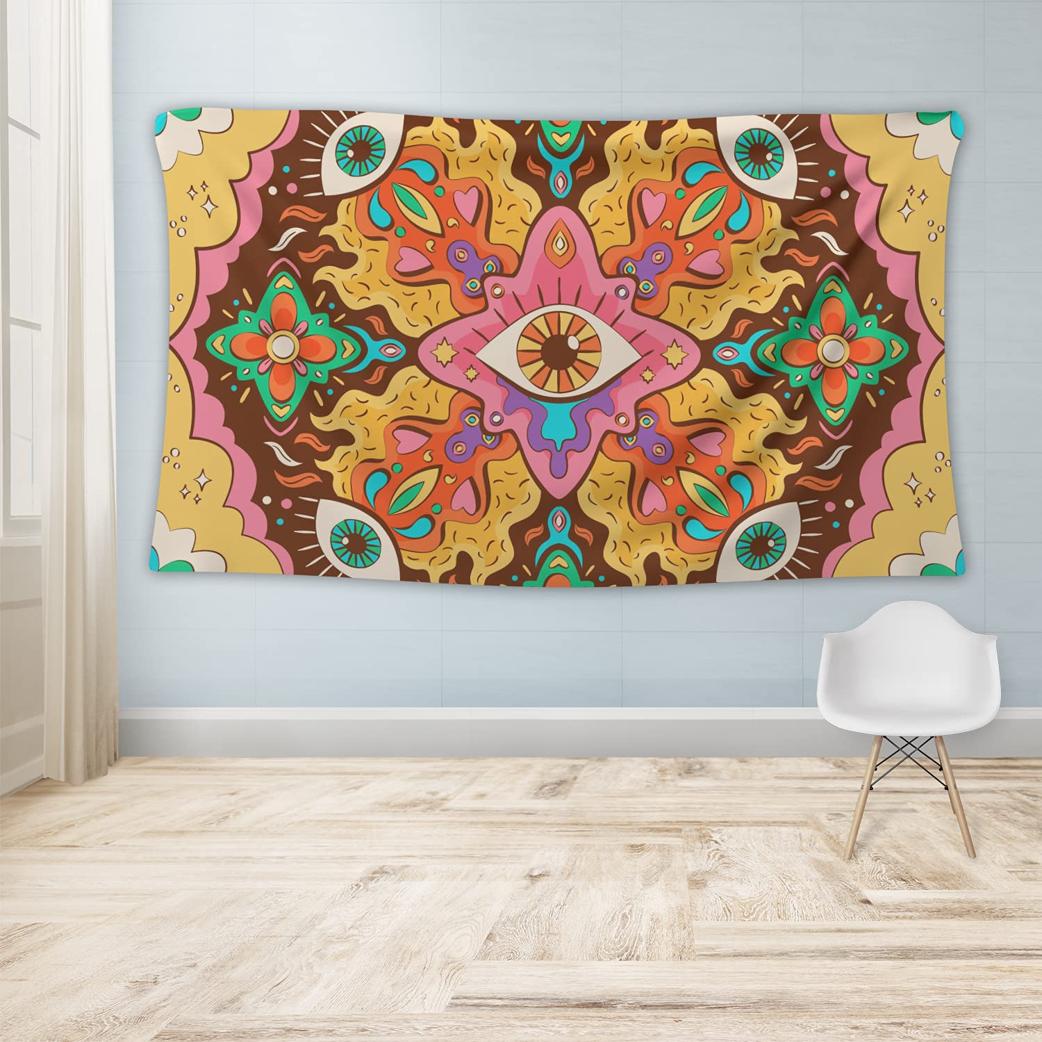Psychedelic Kansas City Mall Colorful Eyes Tapestry Max 63% OFF