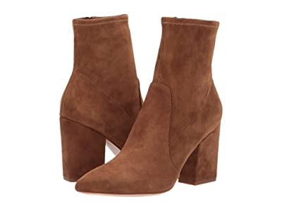 Loeffler Randall Isla Slim Ankle Bootie (Cacao Stretch Suede) Women