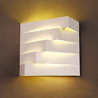 XAJGW E27 Wall Light Cube Modern Wall Lights Living Room Indoor Wall Light Bedroom Corridor Hallway Wall Scone White [Energy Class A++]