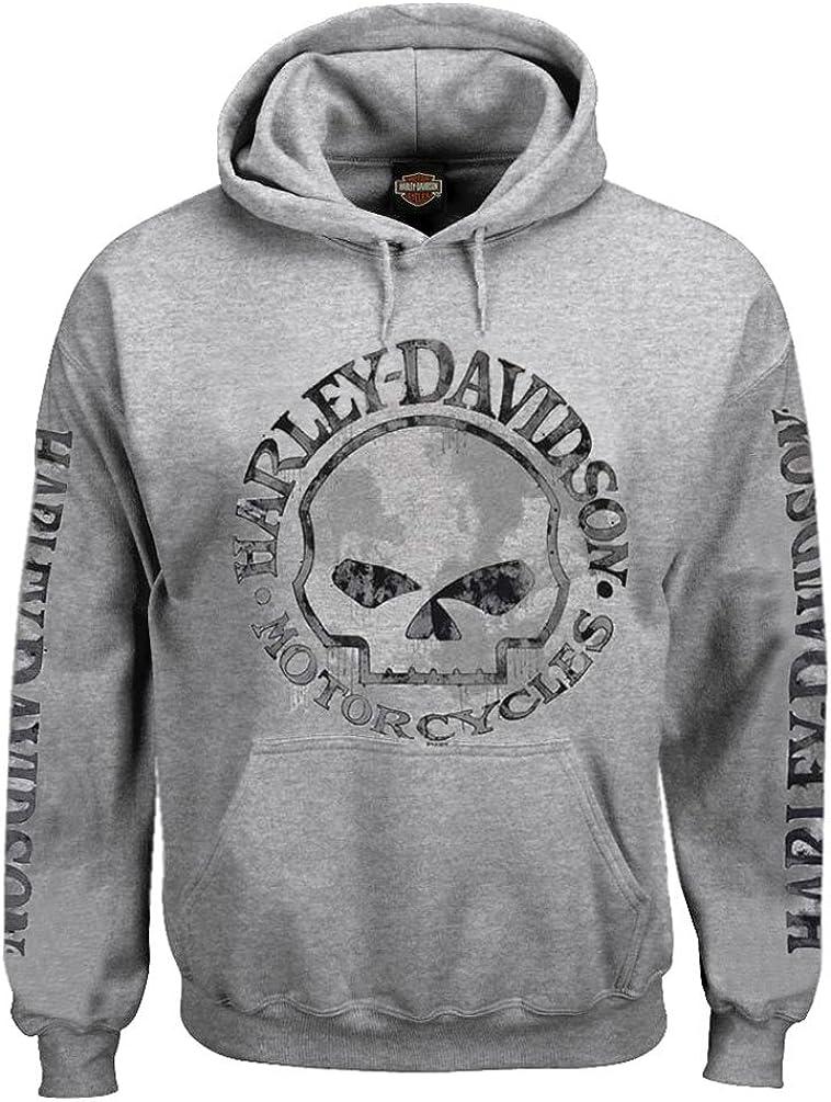 Harley-Davidson In stock Credence Men's Hooded Sweatshirt Willie Gray Skull Ho G
