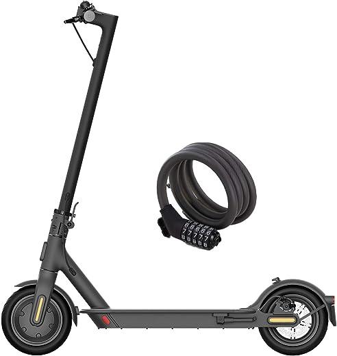 Xiaomi Mi Electric Scooter 1S, Monopattino Elettrico, Versione Amazon con lucchetto incluso, 30 Km di Autonomia, Velocità fino a 25 Km/h, Sistema KERS e doppi freni a disco, Nero, Versione Italiana
