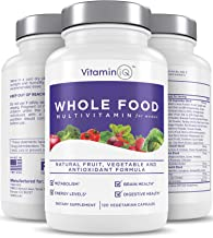 VitaminIQ Multivitamin for Women, Whole Food Vitamin, Antioxidant Rich Supplement for Essential Nutrients, Natural Calcium...