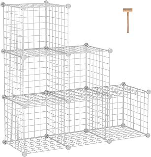 C&AHOME Étagère de rangement modulaire en forme de cube métallique avec 6 cubes - Pour la maison, le bureau, la chambre de...