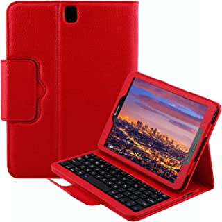 Keyboard Case for Samsung Galaxy Tab S3 9.7 (SM-T820 / T825 / T827), YMH Detachable Magnetic Removable Wireless Bluetooth Smart Keyboard Cover Protective Stand Book Folio Slim Fit PU Leather (04)