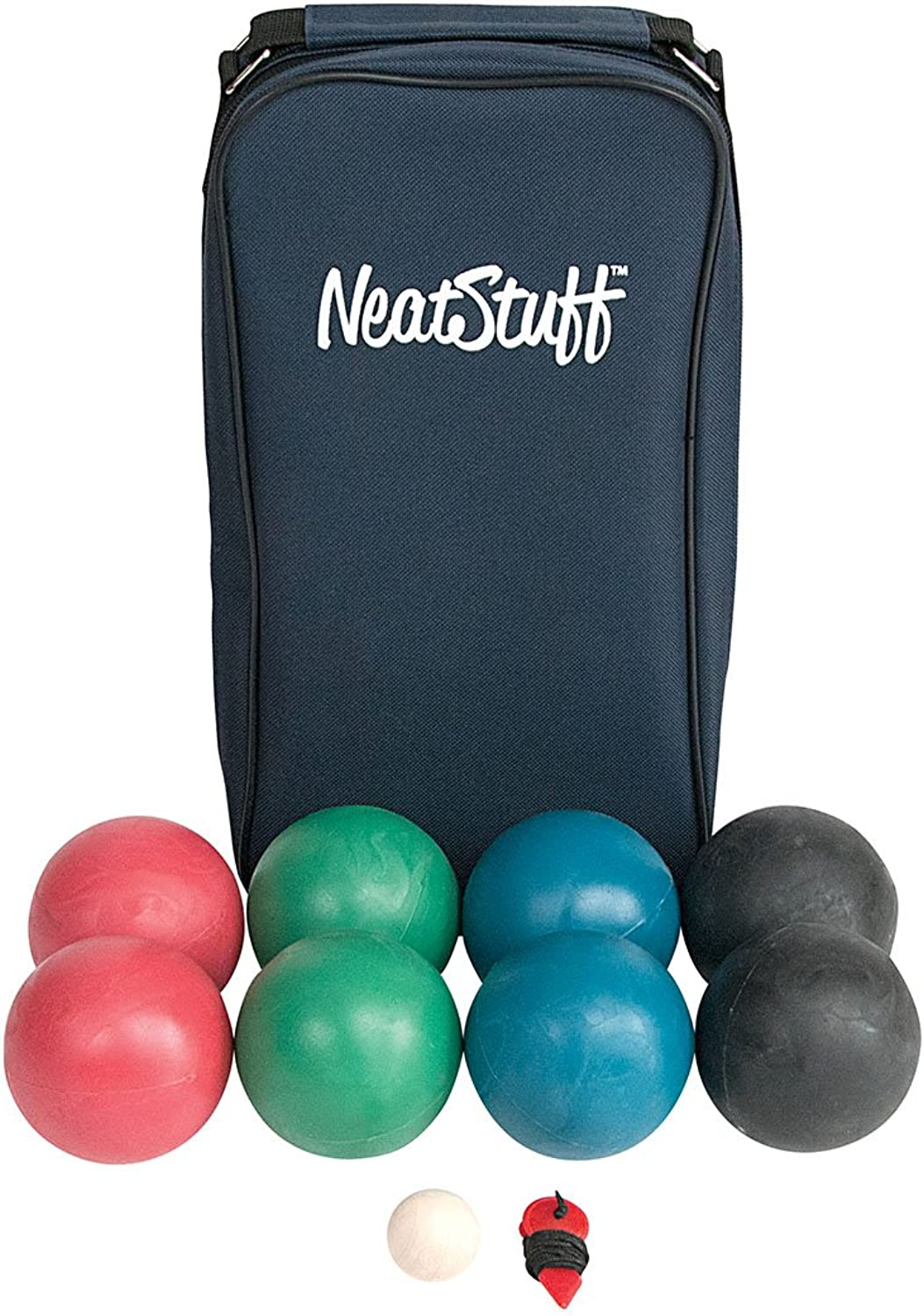 Neat Stuff Bocce Ball Set with Carrying Case  Up to 8 Players