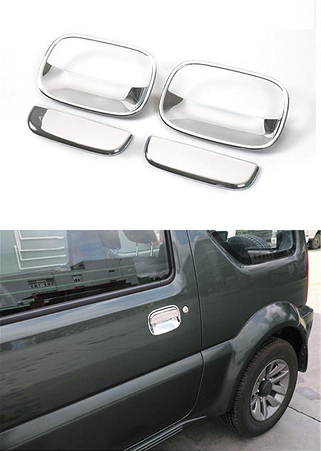 JDopption Chrome ABS Car Door Handle Replacement Cover Trim For Suzuki Jimny 2007 Up