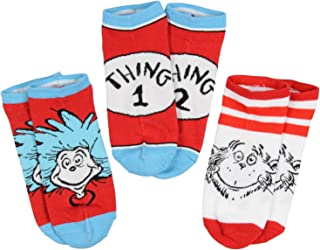 Dr. Seuss Thing 1 And Thing 2 Men And Women 3 Pack Ankle Socks