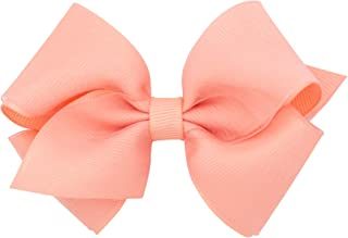 Wee Ones Baby Girls' Extra Small Organza Overlay Hair Bow on a WeeStay Clip