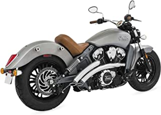 Freedom IN00075 Exhaust (Radical Radius High 14-16 Scout Chrome with Black Tips)