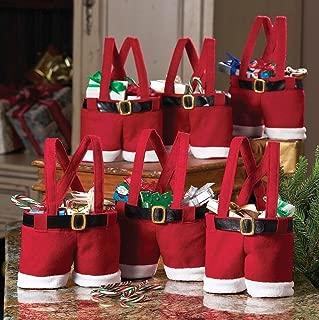 6X Christmas Christmas Bags Stocking Xmas Santa Pants Kid Gift Candy Gift Bag Sack Stocking Filler, Miniko(TM) Red Christmas Candy Bags Santa Treat Shorts Pants Stocking Filler Xmas Gift