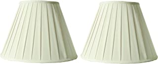 Creme Linen Round Box Pleat Lamp Shade 9x16x11 (Spider) (Pack of 2)