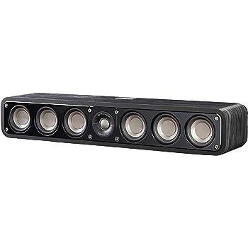 Polk Audio Signature Series S35 Center Channel Speaker (6 Drivers) | Surround Sound | Power Port Technology | Detachable Magnetic Grille, Black