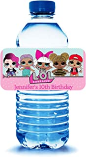 20 Personalized water bottle labels for an lol themed birhtday party