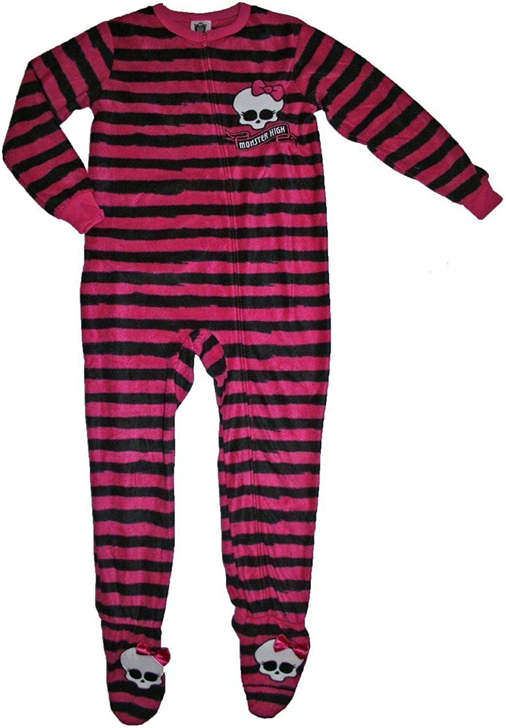 Monster High Girl Footed Blanket Sleeper Pajama Size XL 14