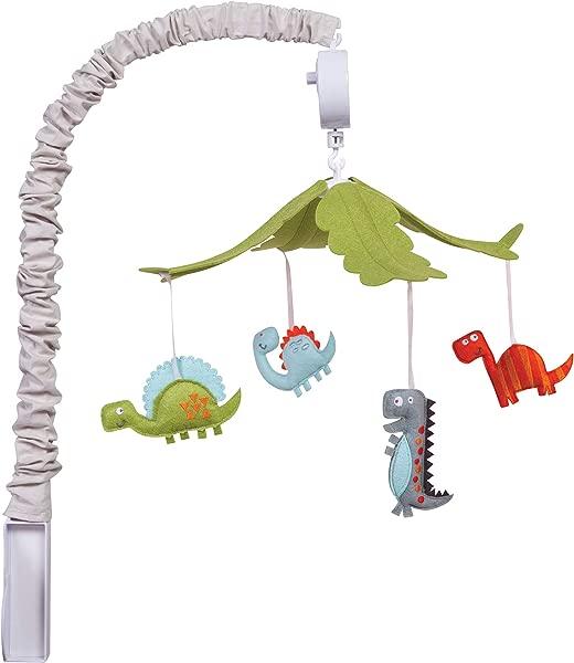 Trend Lab Musical Crib Mobile Dinosaur Baby Mobile Nursery