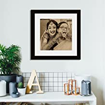 Incredible Gifts India Wood Synthetic Wood Wall Photo Frame (Brown_38 X 38 Cm)