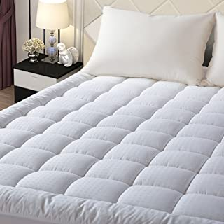 EASELAND King Size Mattress Pad Pillow Top Mattress Cover Quilted Fitted Mattress Protector Stretches up 8-21