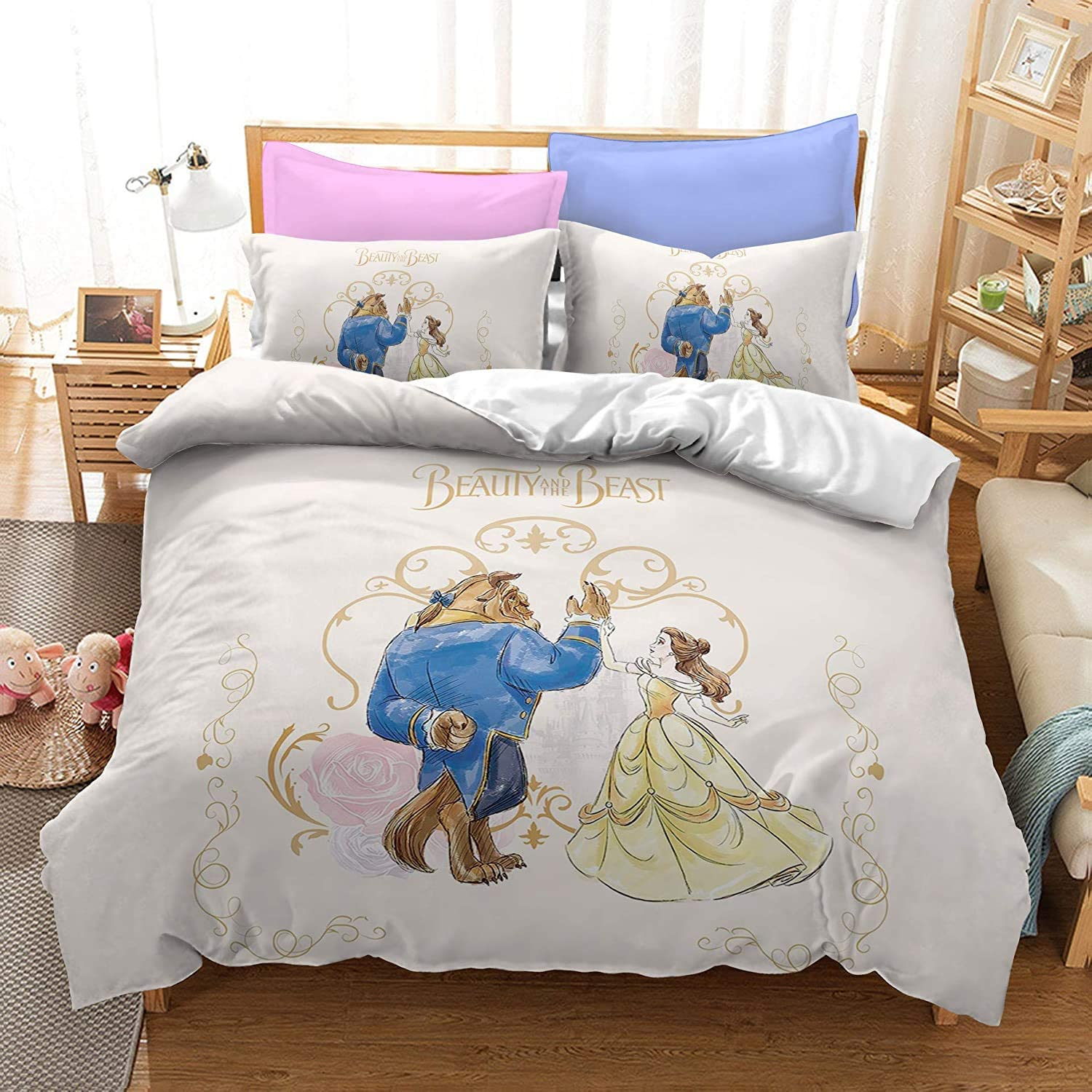 Beauty and Ranking TOP4 Beast Bedding Set King All items free shipping Comforter Duvet Cover Pil with