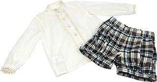 MI HIJA Y YO Conjunto Blusa y Pantalon en Plumeti y Sarga para bebé niña Modelo