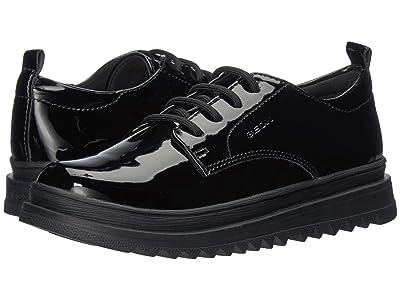 Geox Kids Jr Gillyjaw 8 (Little Kid/Big Kid) (Black Oxford) Girls Shoes