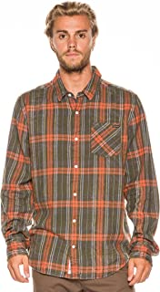 New Rusty Men's Horseshoes Flannel Shirt Long Sleeve Cotton