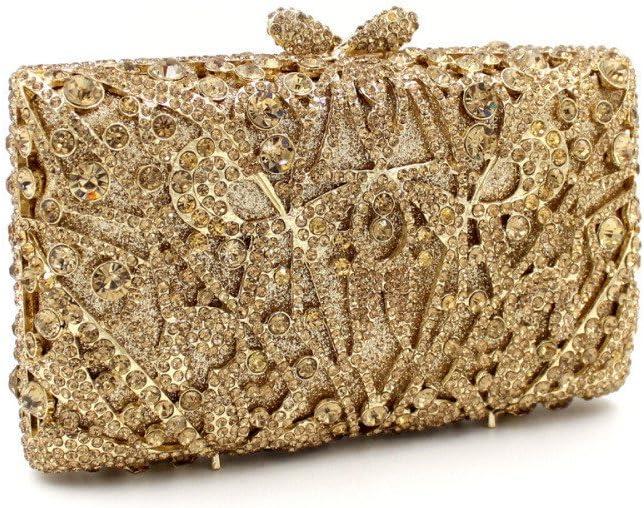 Sac de soirée Femmes Strass Soirée Sac De Haute Qualité Soirée Embrayage Bourse De Mariée Sac À Main De Mariage Banquet Sac de soirée pour Femmes (Couleur : Gold) Gold
