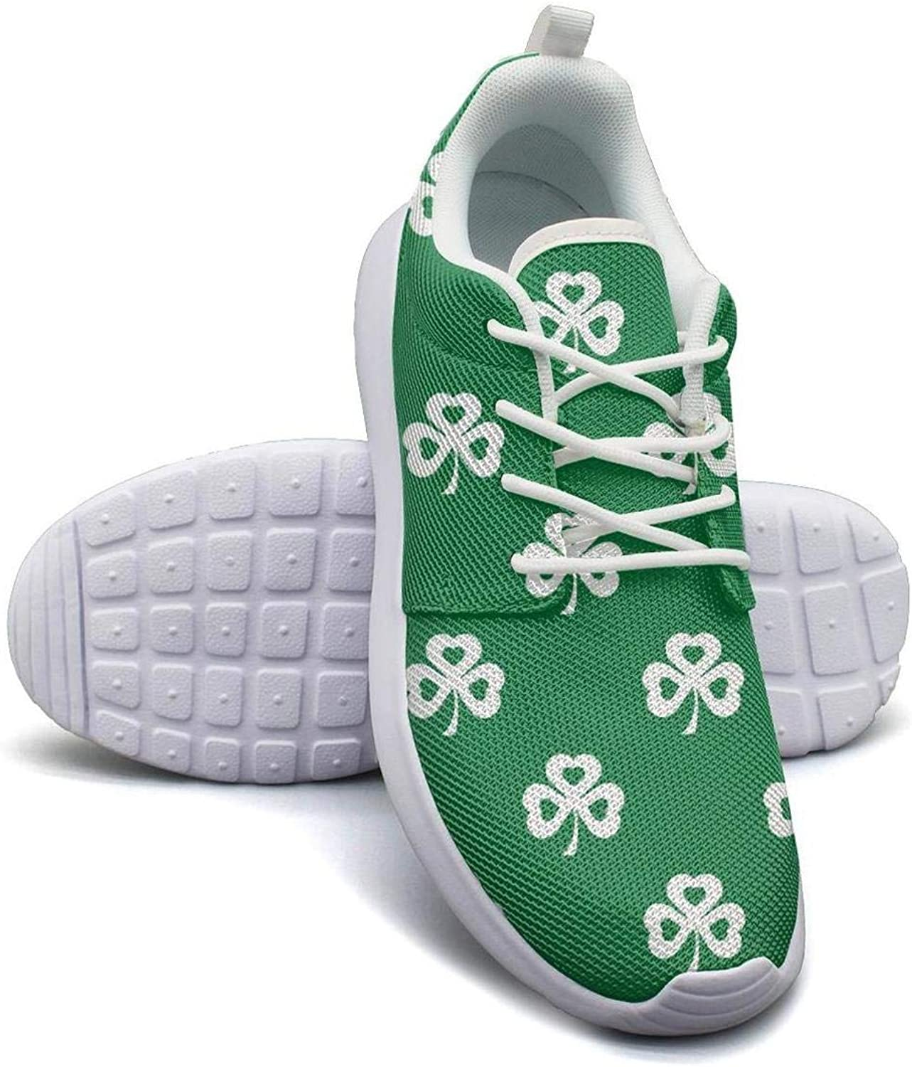 Gjsonmv St. Patrick's Day Vintage mesh Lightweight shoes for Women Non Slip Sports Gym Sneakers shoes