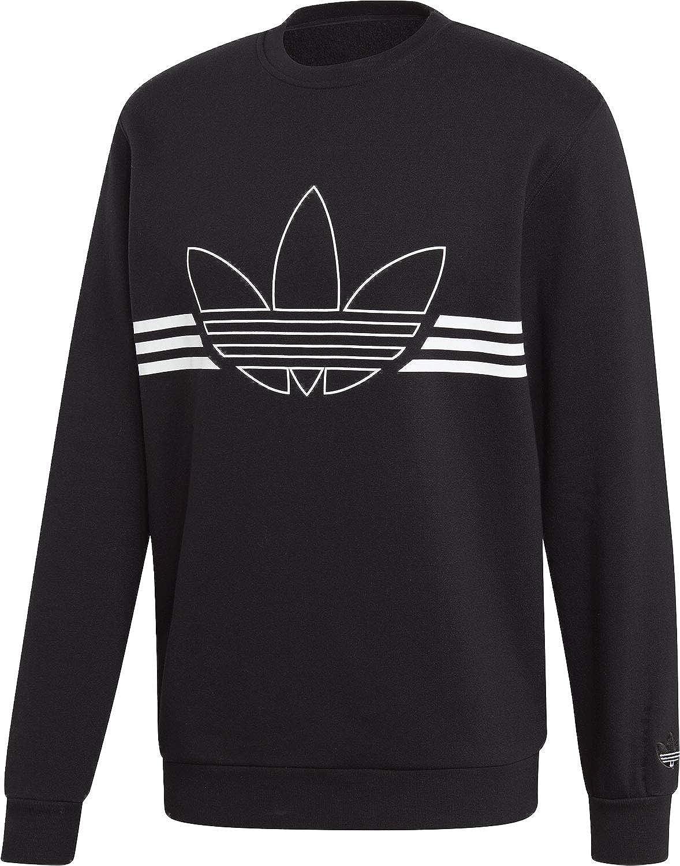 Adidas Herren Outline Trefoil Crew Fleece Sweatshirts