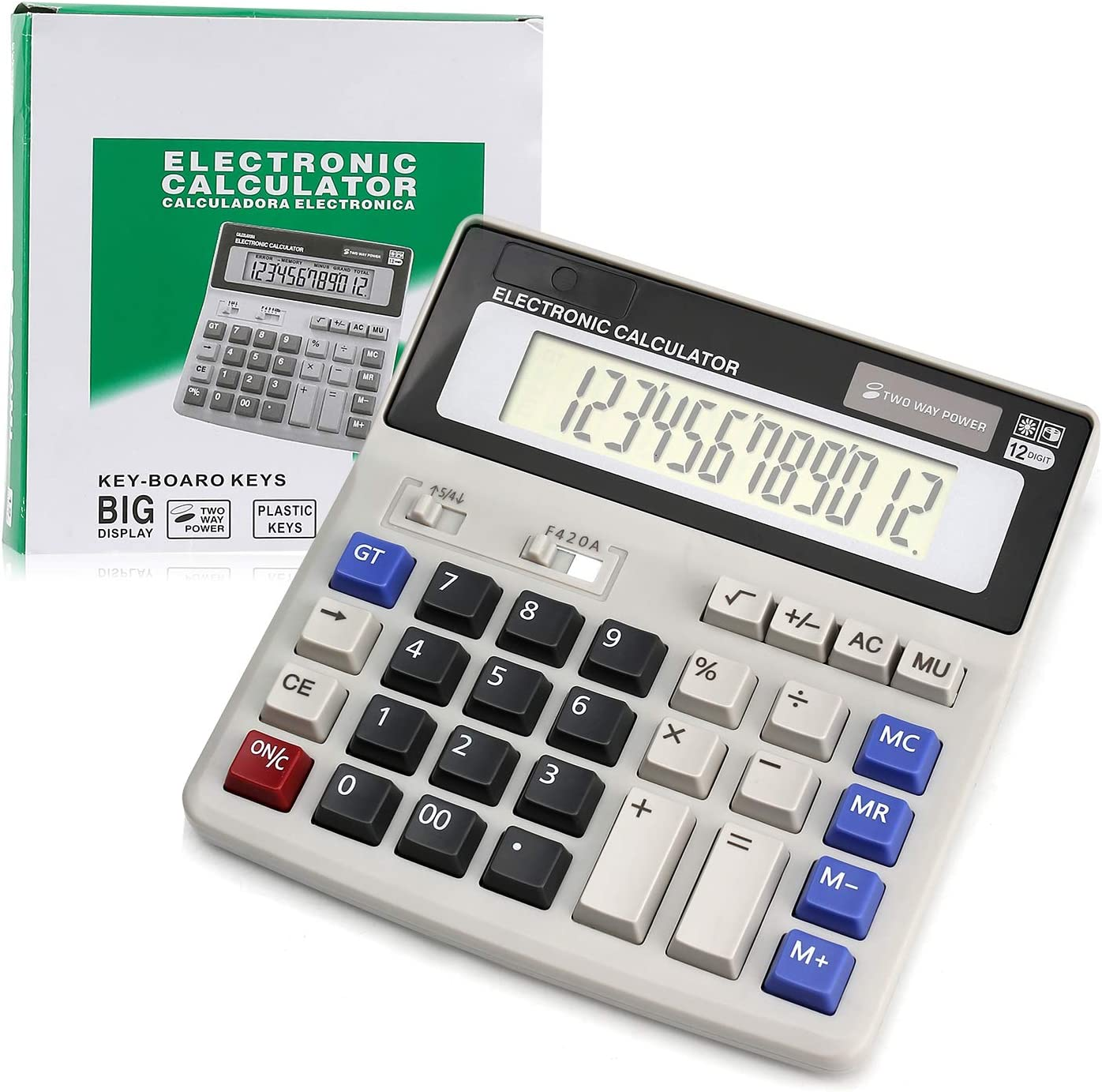 Popular popular Calculator Calculators Gifts Large Display Solar Battery Buttons and