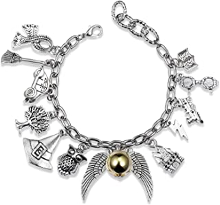 Bracelet Themed Charm Friendship Bracelets 8-Inch Silver...