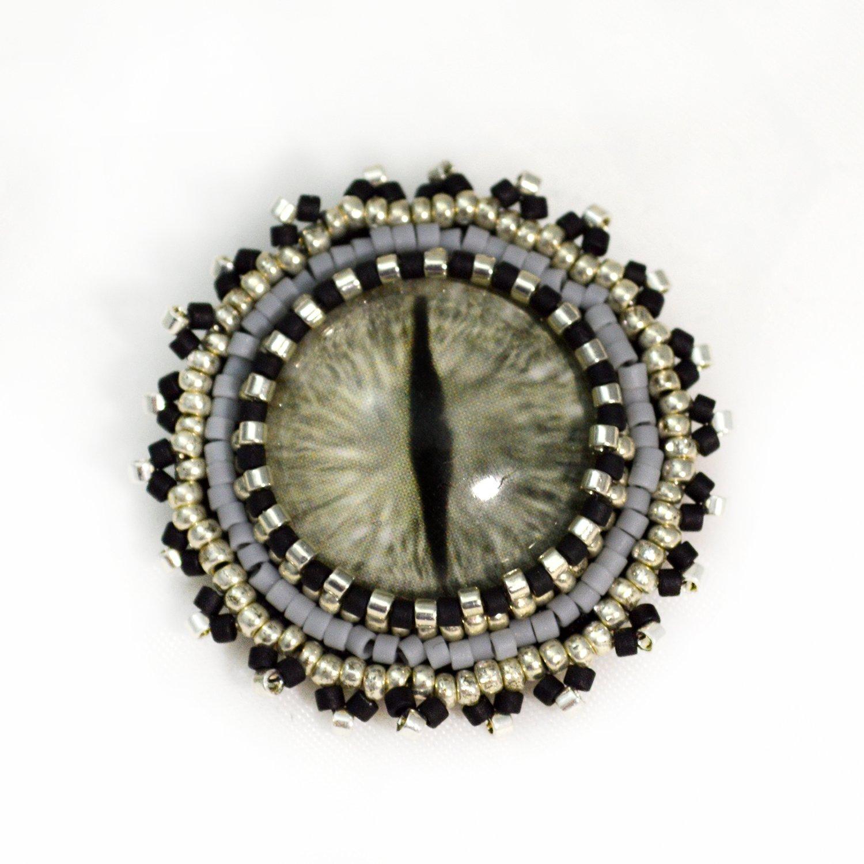 Silver Gray Miami Mall Dragon Eye Brooch Pin Gothic or Cloak Accesory Translated Grey