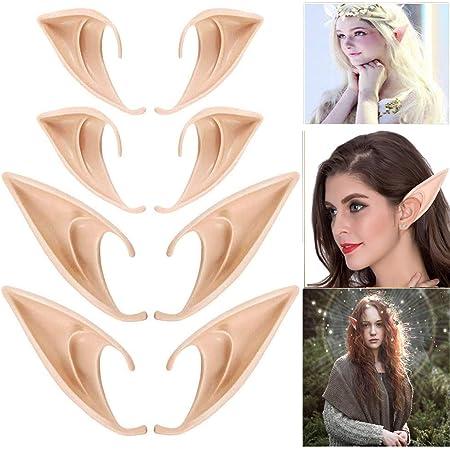 Victoy Orecchie da elfo in lattice per cosplay e feste