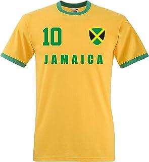 aprom Jamaika Ringer T-Shirt Fußball Trikot All-10 GE