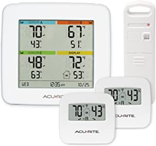 AcuRite 01096M Temperature & Humidity Station with 3 Indoor/Outdoor Sensors