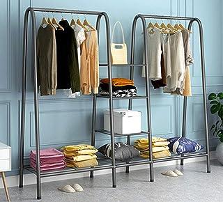 XQYPYL Porte-Manteau à 4 Niveaux Portant à Vêtements sur Pied Meuble D'entrée avec Etagere Rangement Vetements Penderie av...