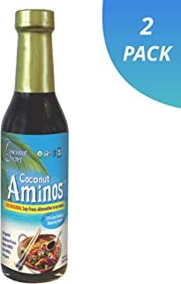 Coconut Secret Coconut Aminos (2 Pack) - 8 fl oz - Low Sodium Soy Sauce Alternative, Low-Glycemic - Organic, Vegan, Non-GMO, Gluten-Free, Kosher - Keto, Paleo - 96 Total Servings