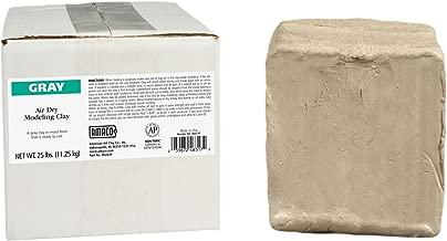 AMACO AMA46317P Air Dry Clay, Gray, 25 lbs.