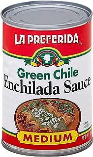 La Preferida Mexican Foods Green Chile Enchilada Sauce, Medium | Salsa de Chile Verde para Enchiladas | 10 OZ (Pack of 12)