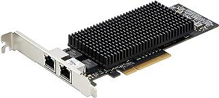 StarTech.com بطاقة شبكة مزدوجة المنافذ 10 جيجا بايت مع 10GBASE-T و NBASE-T - 2 x RJ45 - بطاقة NIC مزدوجة (ST10GSPEXNDP)