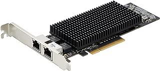 StarTech.com 10GbE デュアルポート増設PCIe LANカード 10GBASE-T & NBASE-T 10G/5G/2.5G/1G/100Mbps対応 ST10GSPEXNDP