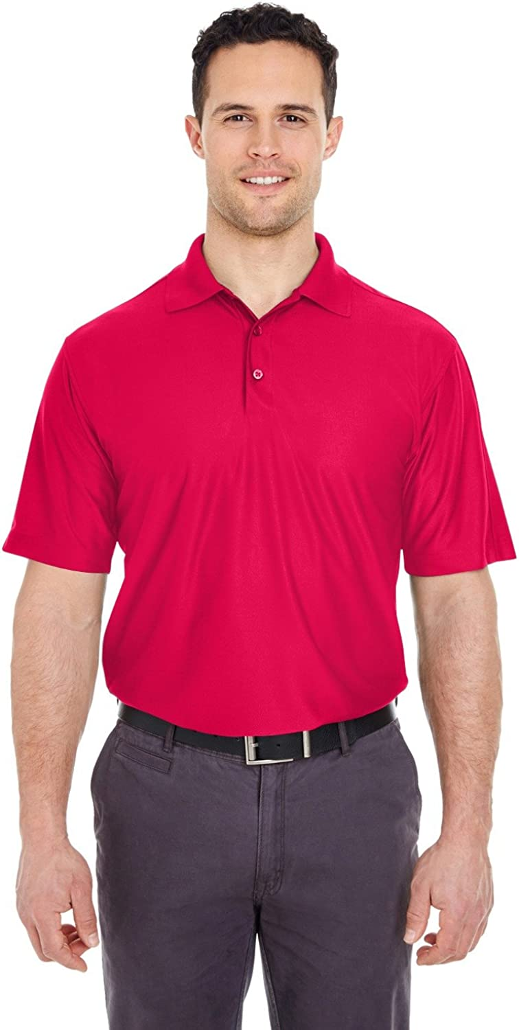 UltraClub Mens Tall Cool & Dry Elite Performance Polo (8415T) Red 2xt