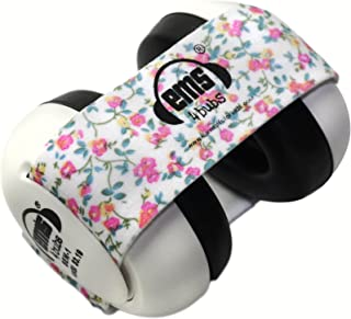 Em's 4 Bubs Baby Earmuffs (Floral Headband Size 6-18 months)