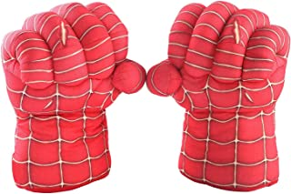 Kids S-Man Gloves Boxing Gloves Soft Plush Super Hero Cosplay Costume for Birthday Christmas Halloween Gift